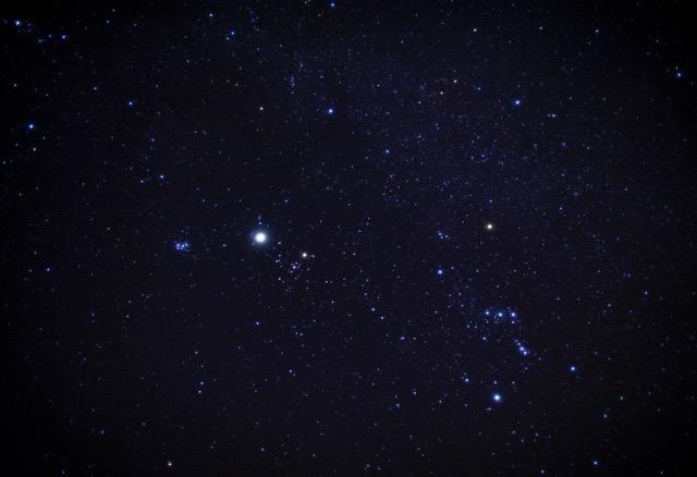 澄んだ冬の空地、COFFの近くは星が綺麗に見られます
