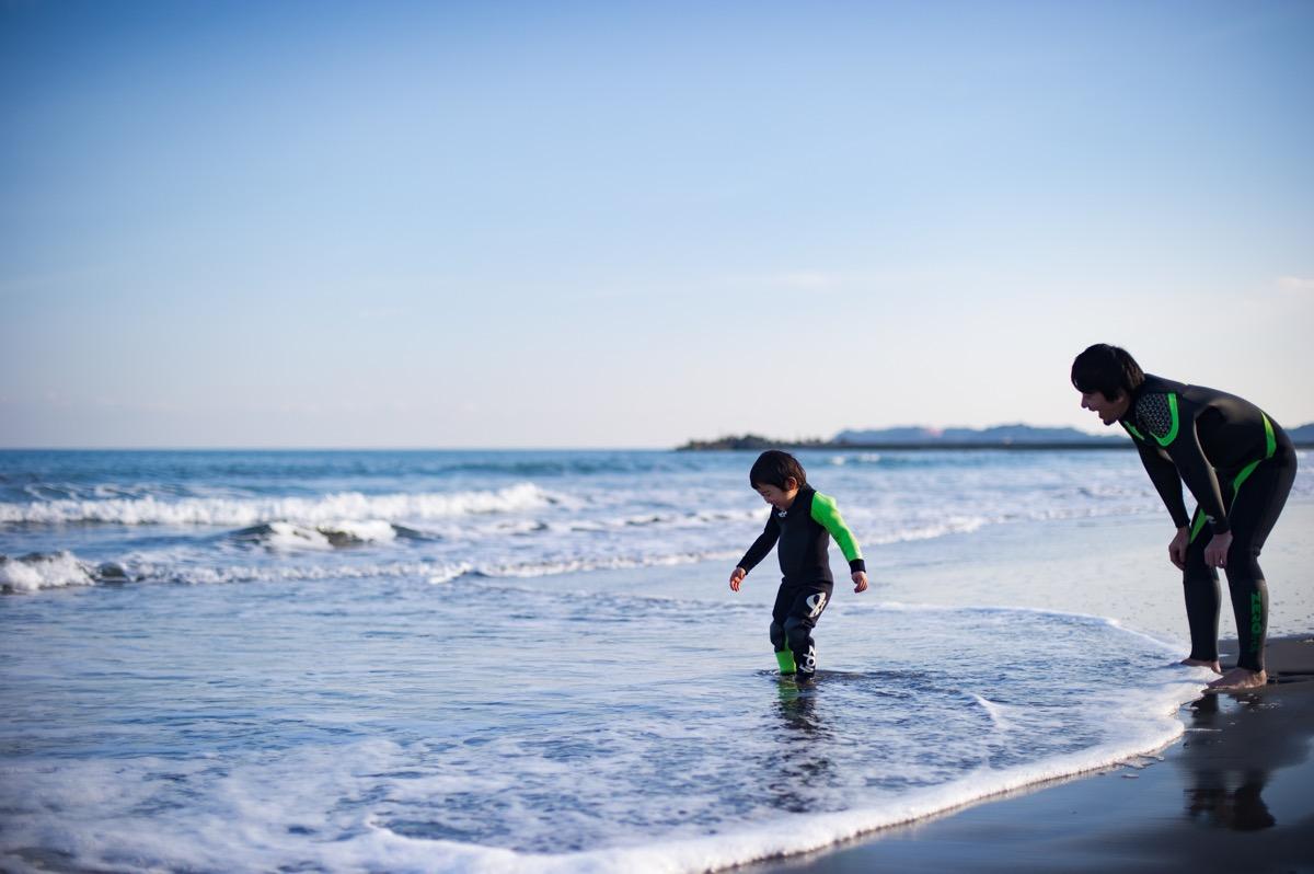 海つめたいね!でも楽しいね!と初体験づくし